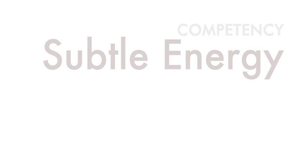 competency: subtle energy